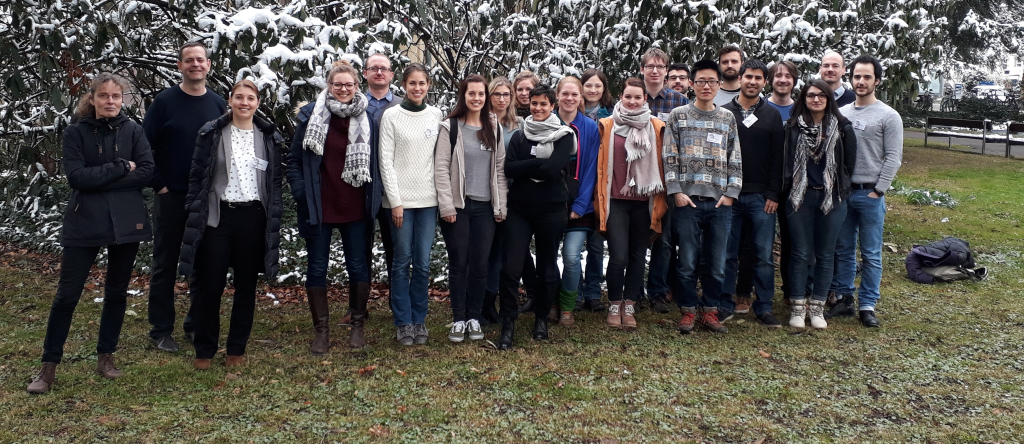 Gruppenbild der Teilnehmer des DZG-Graduiertentreffens Evolutionsbiologie 2018 in Freiburg